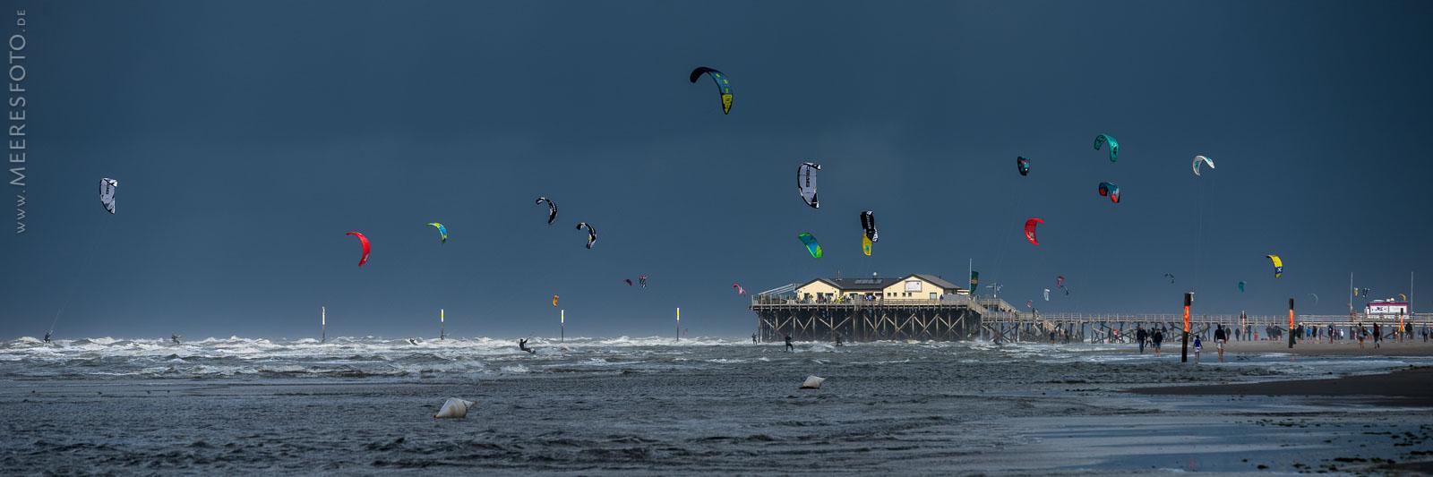 Kiter vor Sturmfront in SPO